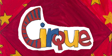 Cartes d'invitation à la fête du cirque