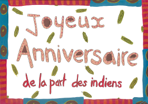 Cartes d'invitation fête des indiens