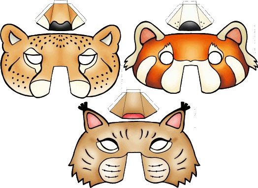 Les Masques Des Animaux Sauvages Tomlitoo